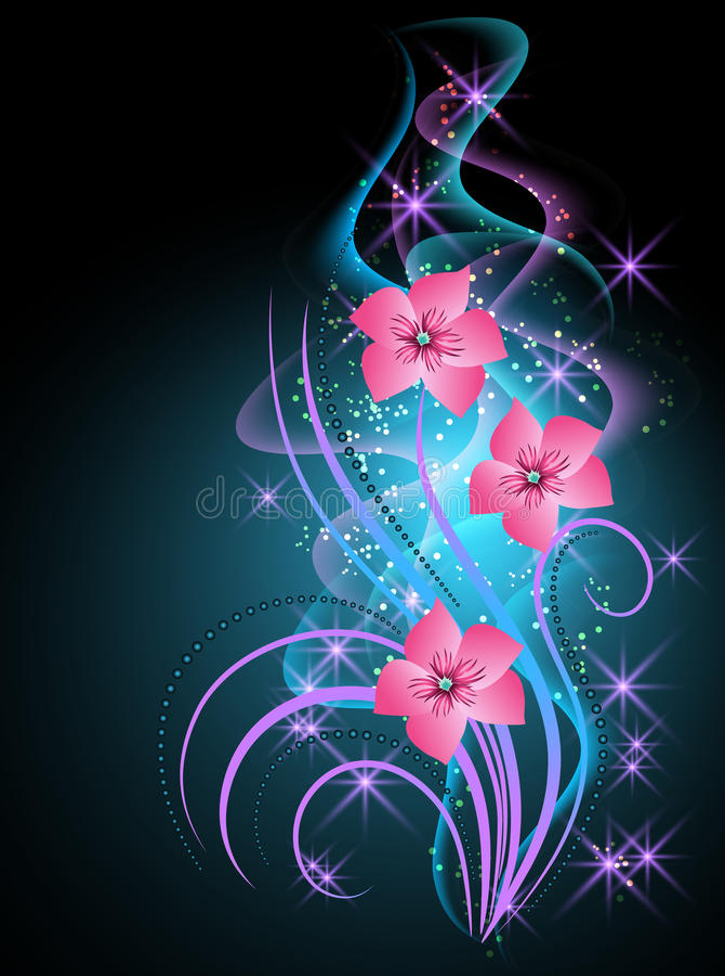 Humo y flores transparentes libre illustration