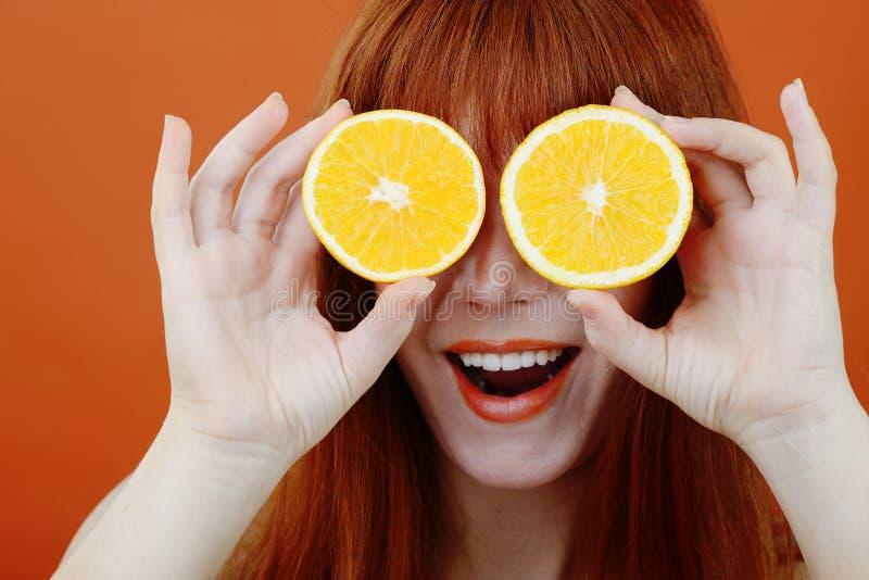 Humor anaranjado foto de archivo