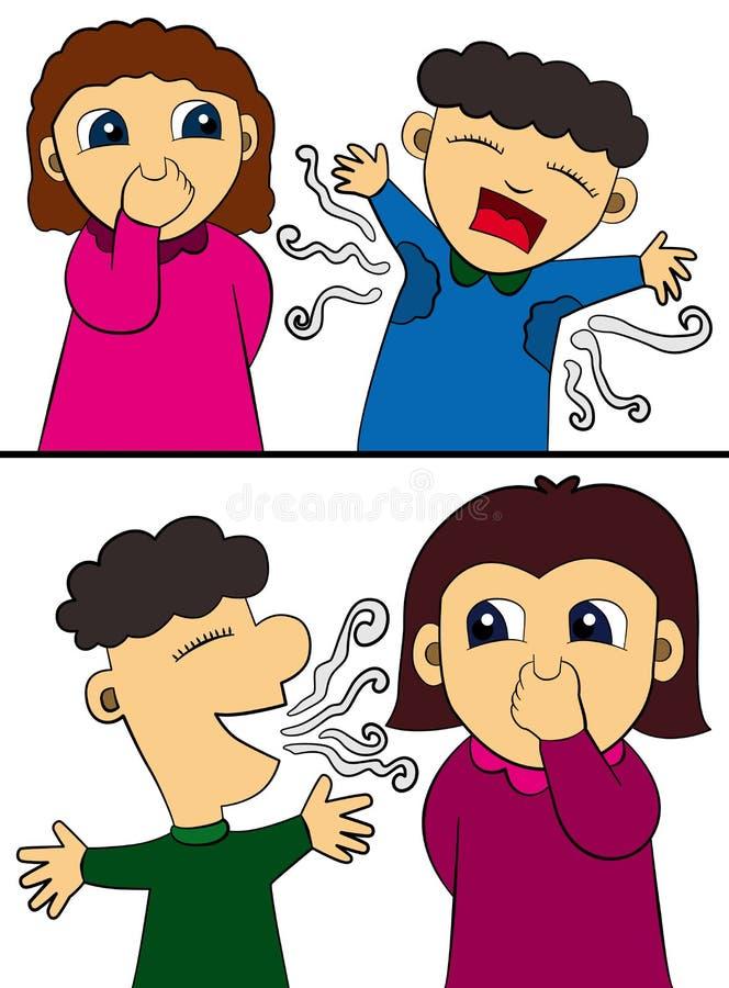 Humor da higiene ilustração stock