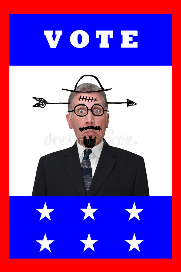 Humor de la política de la apatía del votante del año de la elección del voto stock de ilustración