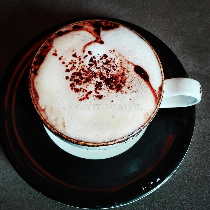 Humor de la taza de café foto de archivo