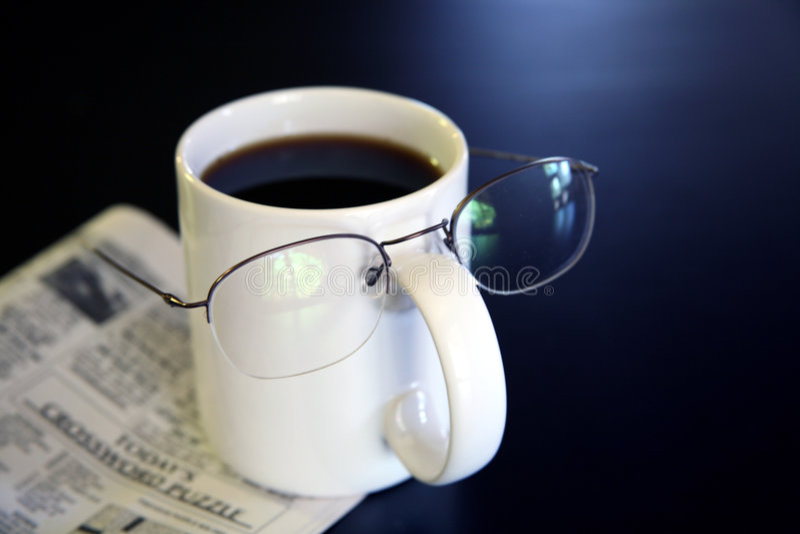 Humor de la taza de café imagen de archivo libre de regalías