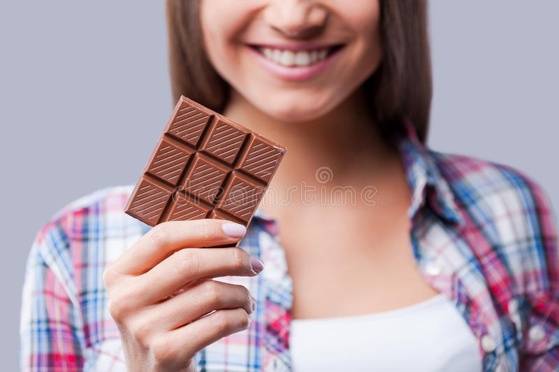 Humor do chocolate foto de stock