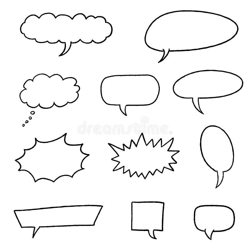 Humorbokanförande royaltyfri illustrationer