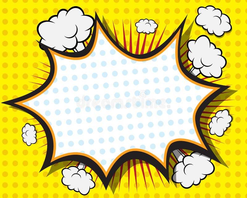 Humorbokanförandebubbla royaltyfri illustrationer