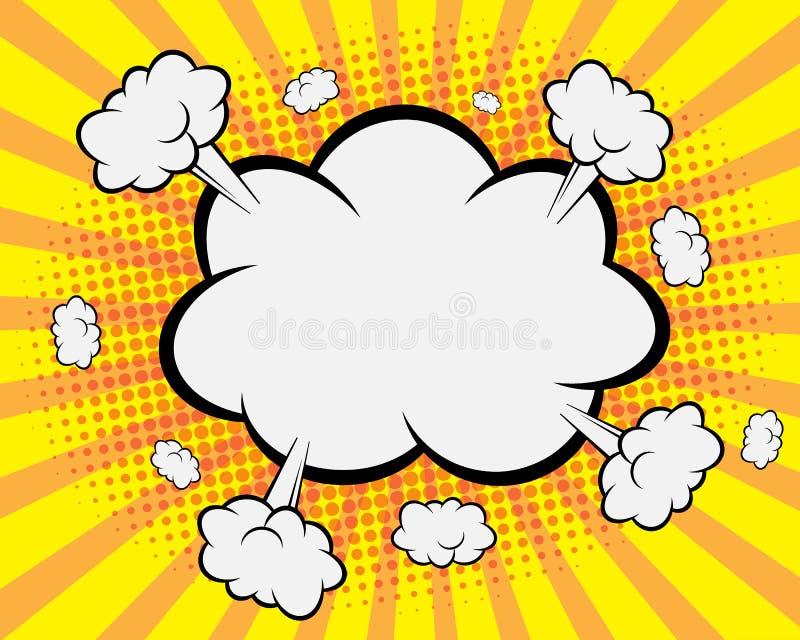 Humorbokanförandebubbla, bakgrund för popkonst stock illustrationer