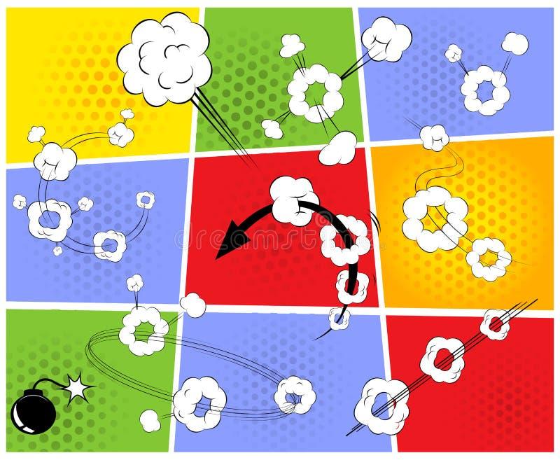 Humorbokmodell vektor illustrationer