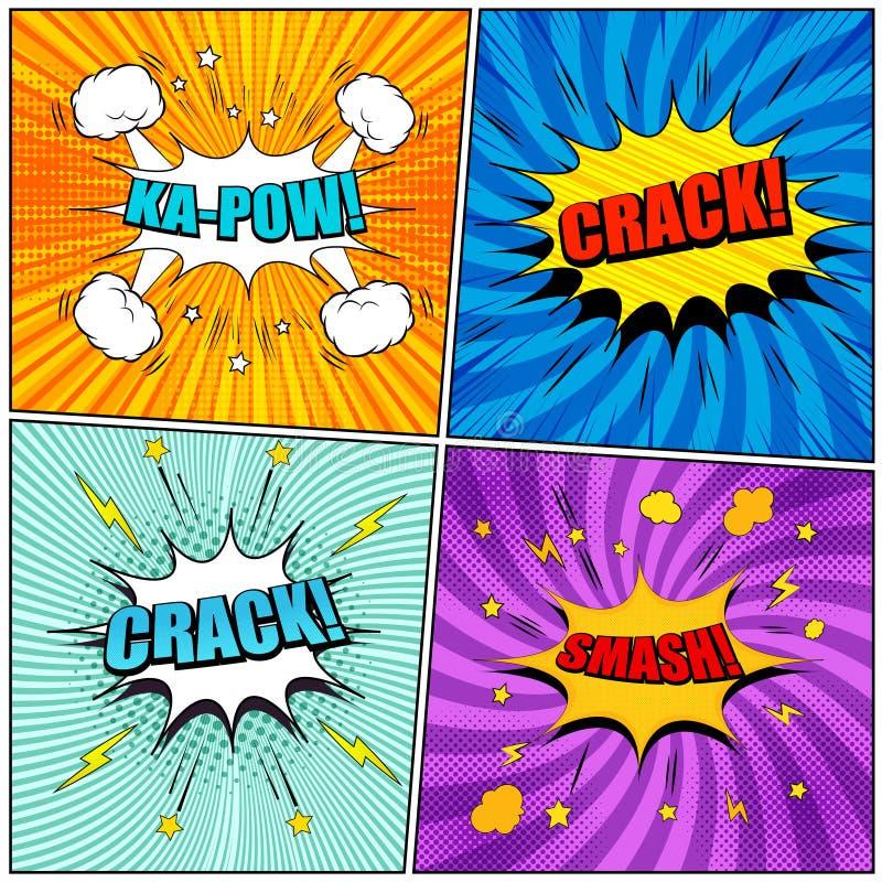 Humorboksidauppsättning vektor illustrationer