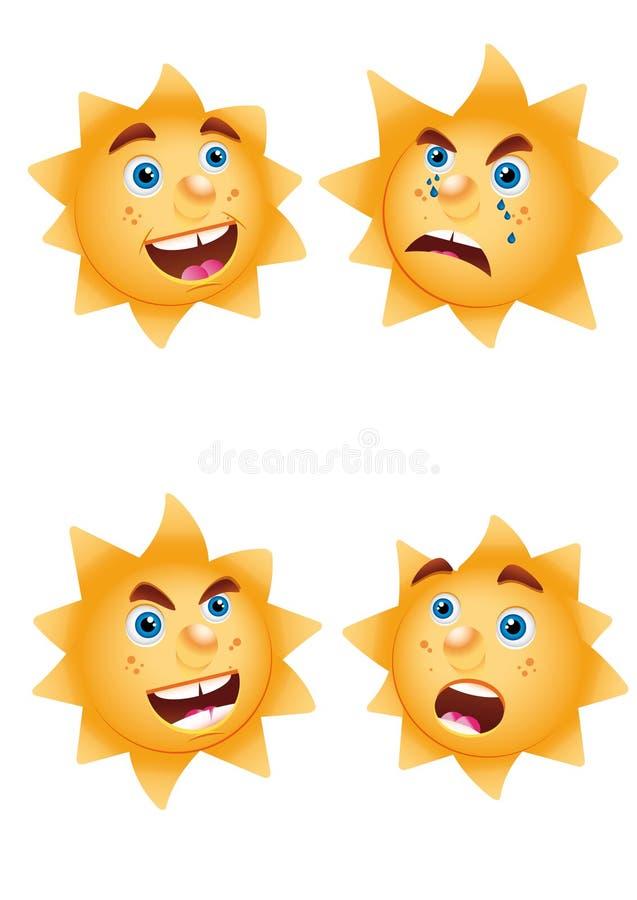 Humores del sol fotos de archivo