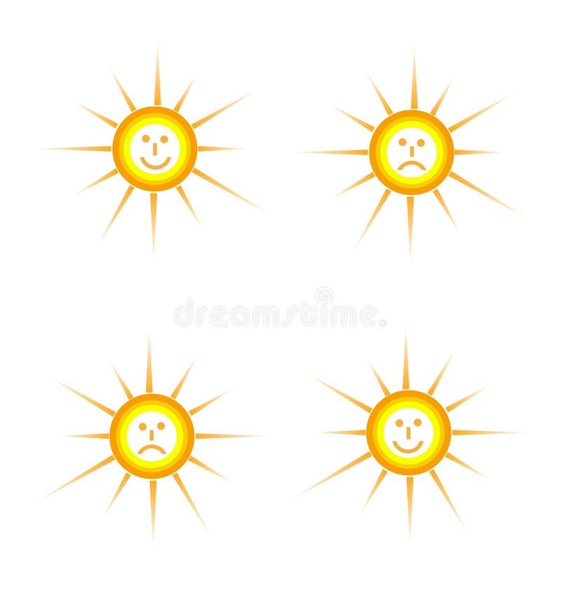 Humores del sol imagen de archivo