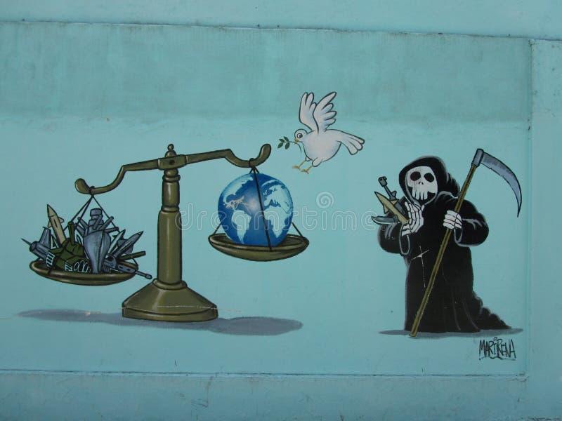 Humoristas against war, Santa Clara, Cuba. On the 40th anniversary of the Cuban humorist publication Melaito a handful of the most acknowledged Cuban satirists stock illustration