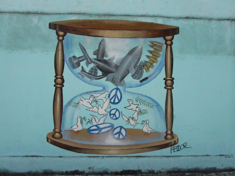 Humoristas against war, Santa Clara, Cuba. On the 40th anniversary of the Cuban humorist publication Melaito a handful of the most acknowledged Cuban satirists royalty free illustration