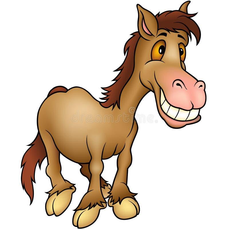 Humoriste de cheval illustration de vecteur