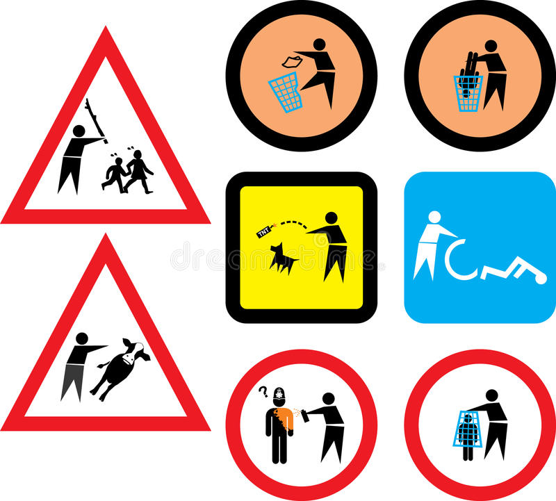 Humorous signs stock illustration