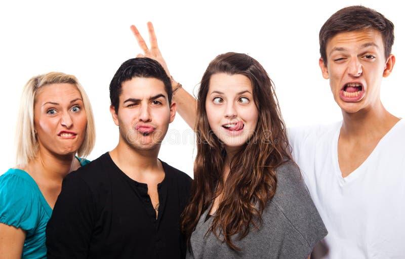 Humourus funny group royalty free stock image