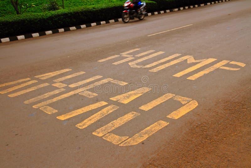 Hump Ahead Road Warning royalty free stock photo