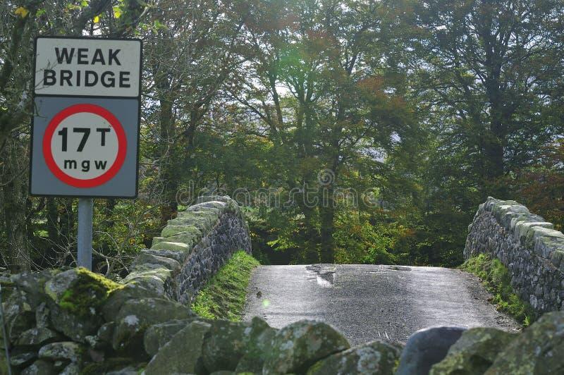 Humped rückseitige Steinbrücke. stockfotografie