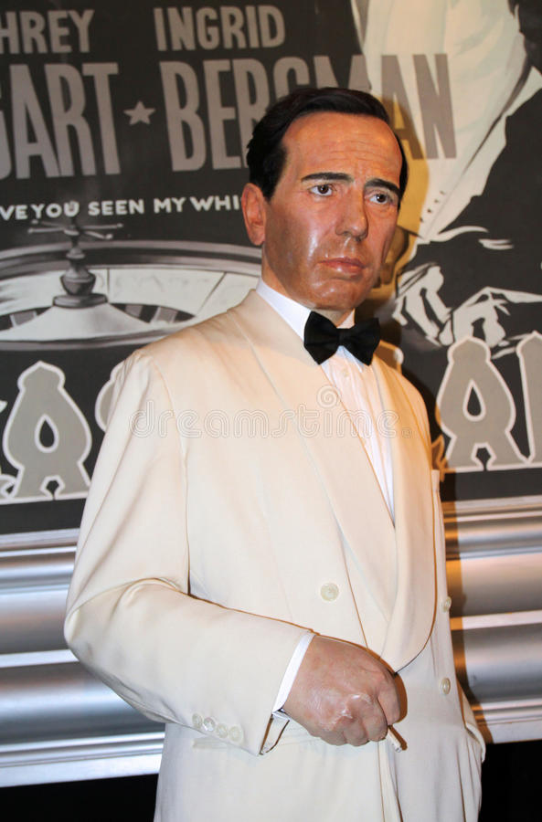 Humphrey Bogart à Madame Tussaud's photos libres de droits