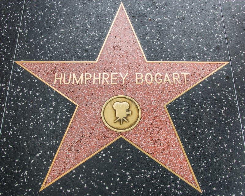 Humphrey Bogart Star op de Hollywood-Gang van Bekendheid royalty-vrije stock foto