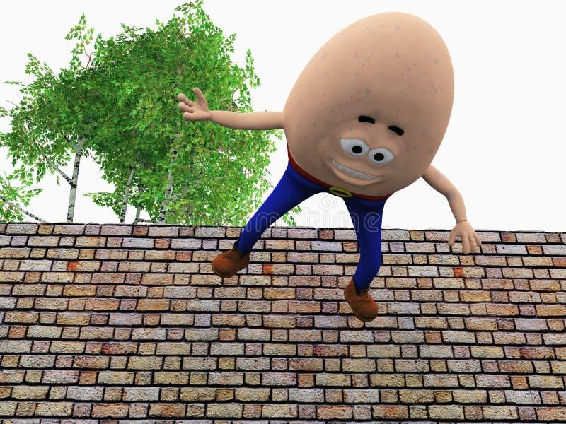 Humpty Dumpty royalty-vrije illustratie