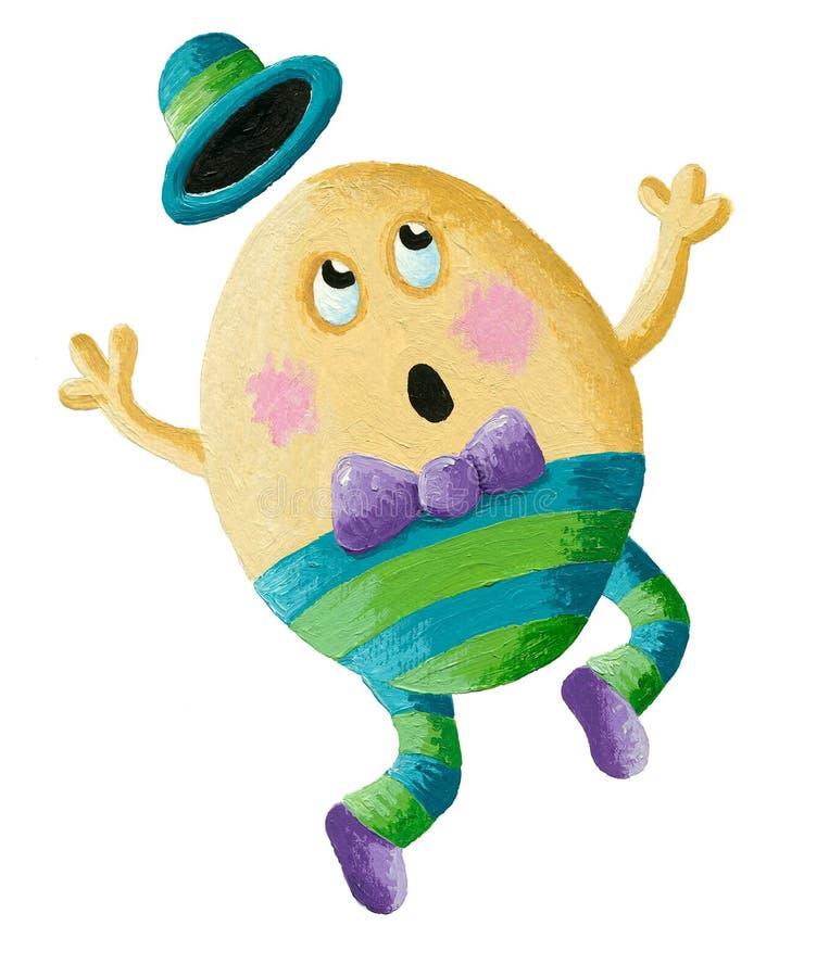 Humpty Dumpty teve uma grande queda ilustração do vetor