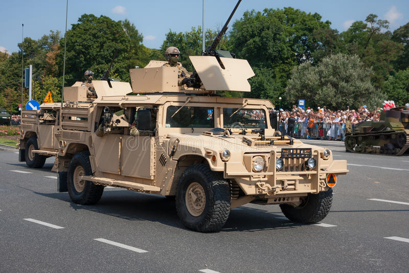 Humvee HMMWV royaltyfri fotografi