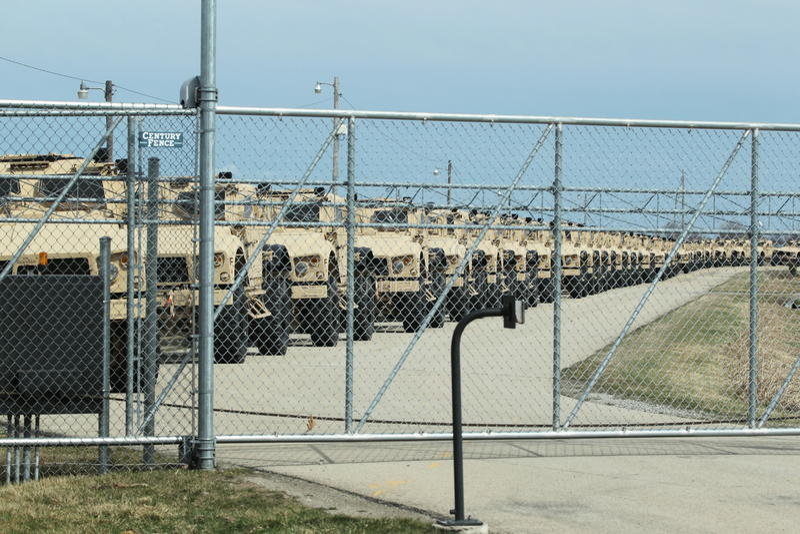 Humvees Klaar voor de Oorlog stock fotografie