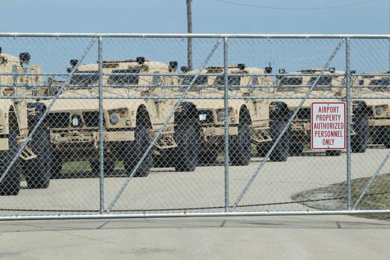 Humvees pronto per la guerra fotografia stock libera da diritti