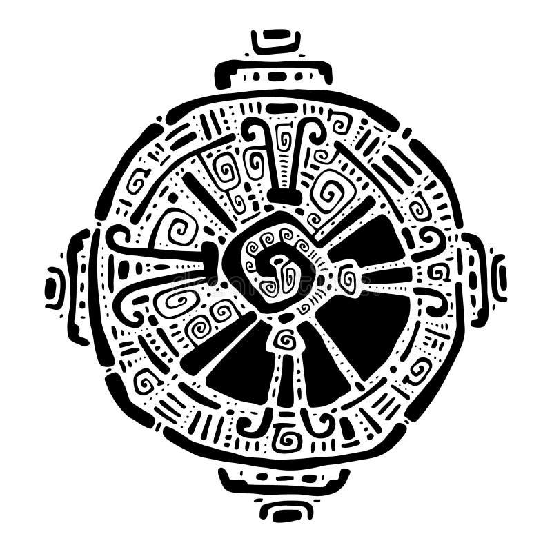 Hunab Ku Symbole maya Illustration de vecteur illustration libre de droits