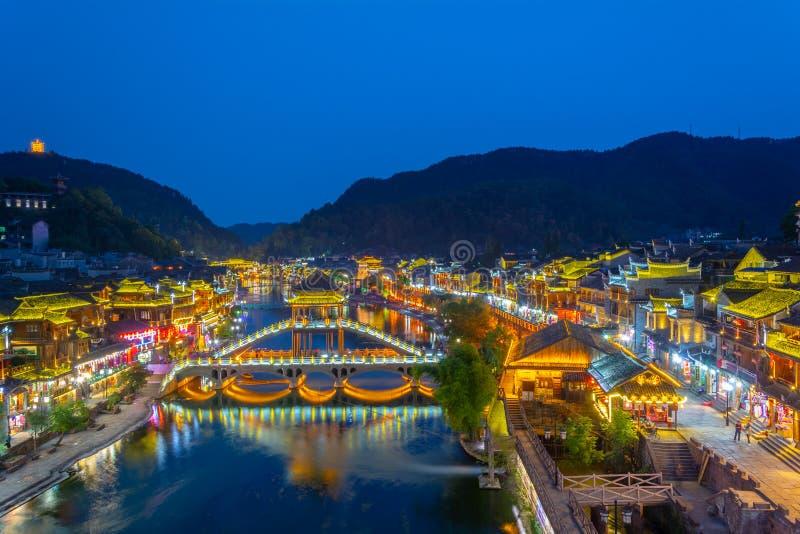Hunan Xiangxi Fenghuang Ancient City Summer Scenery stock photography