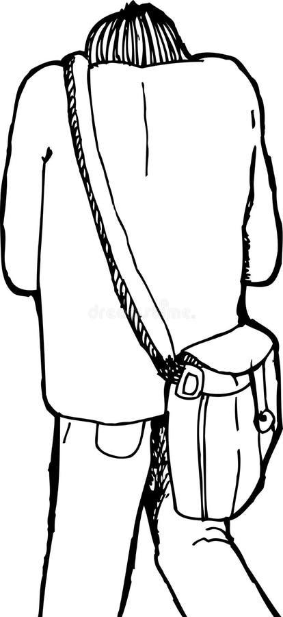 Hunched sopra Person Walking illustrazione vettoriale