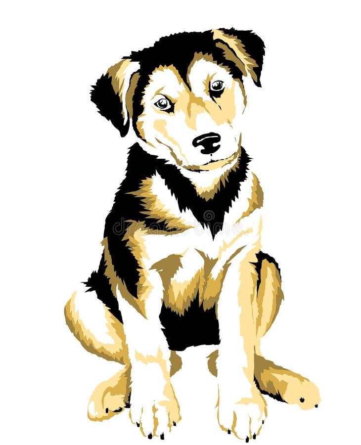 hund 02 vektor illustrationer