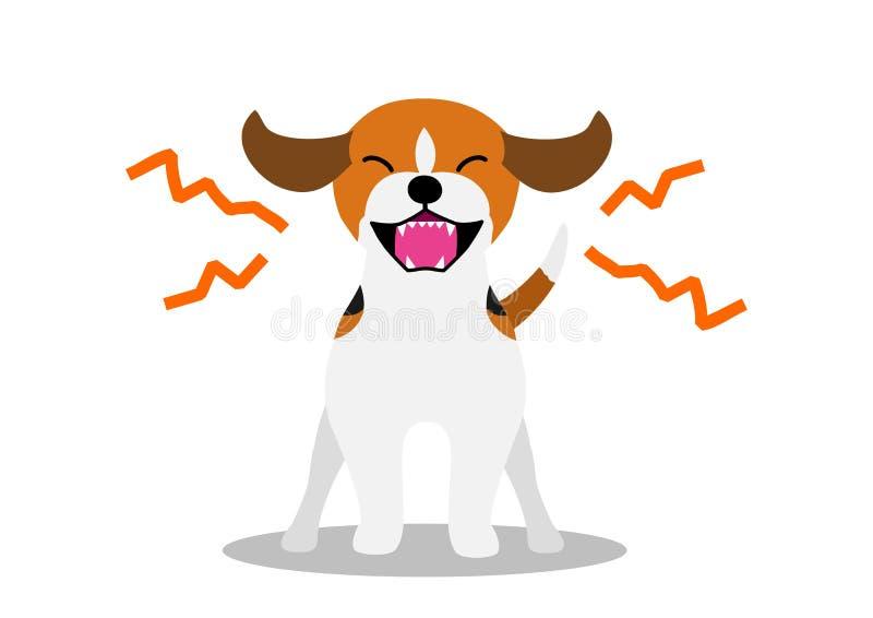 Hund bellt weiter lizenzfreie abbildung