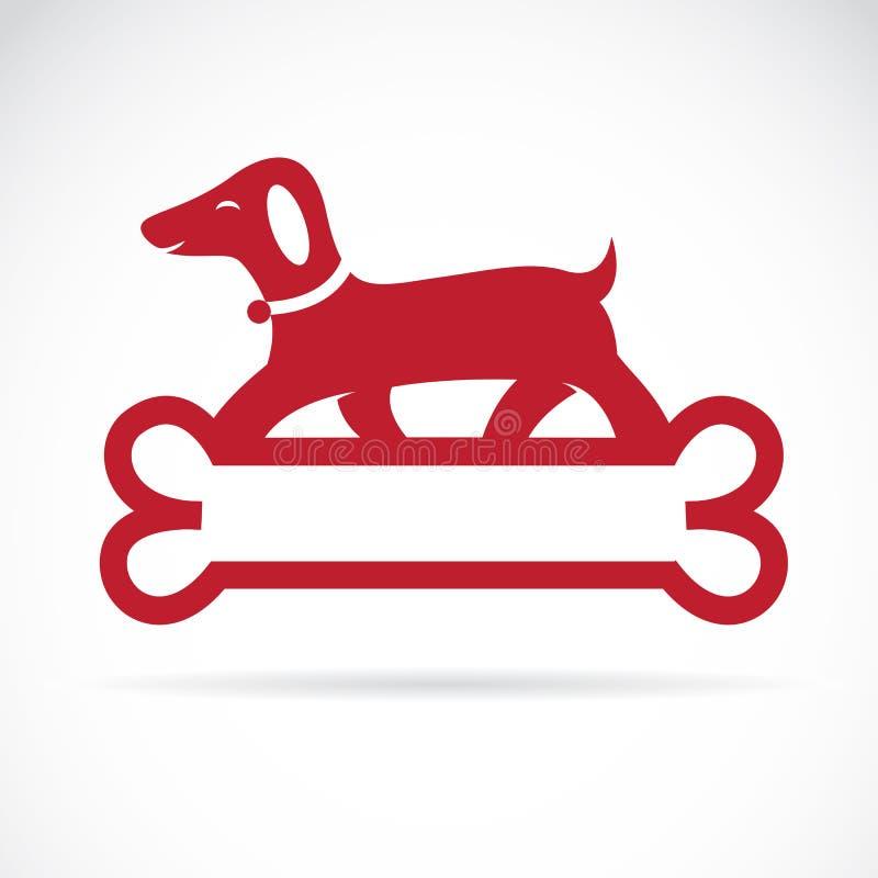 hund der auf knochen steht vektor abbildung