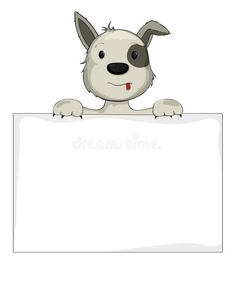 Hund, Der Fahne Hält Lizenzfreie Stockbilder