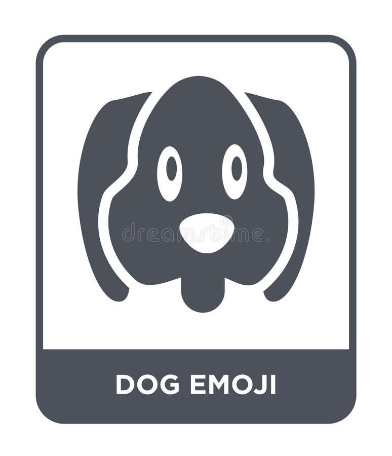 Hund-emoji Ikone in der modischen Entwurfsart Hund-emoji Ikone lokalisiert auf weißem Hintergrund einfache und moderne Ebene der  vektor abbildung