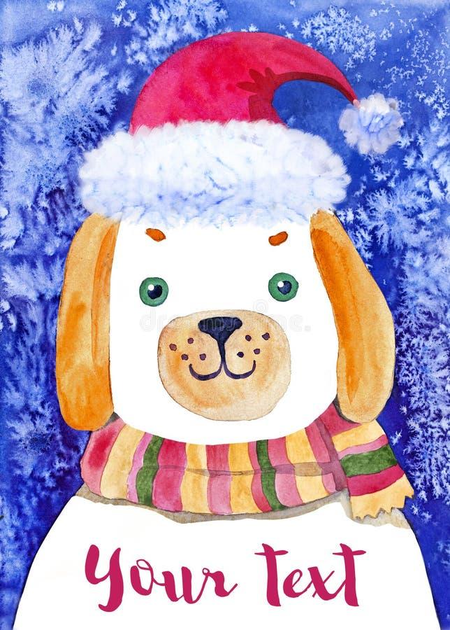 Hund för nytt år stock illustrationer