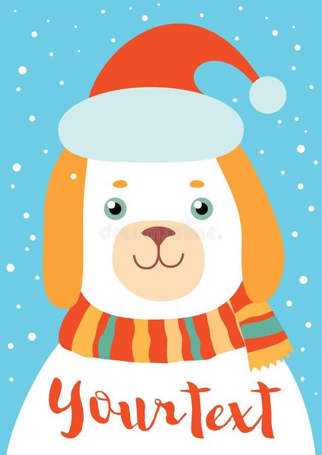 Hund för nytt år vektor illustrationer