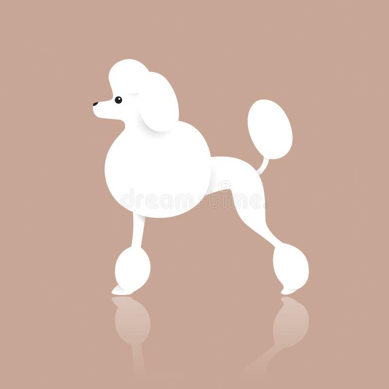 Hund för standard pudel vektor illustrationer