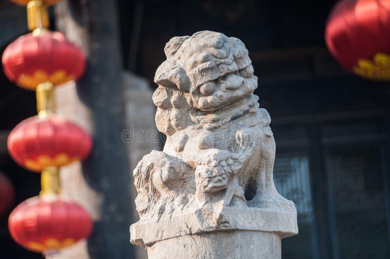 Hund Fu för traditionell kines arkivfoto
