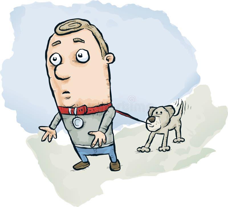 Hund geht Mann stock abbildung