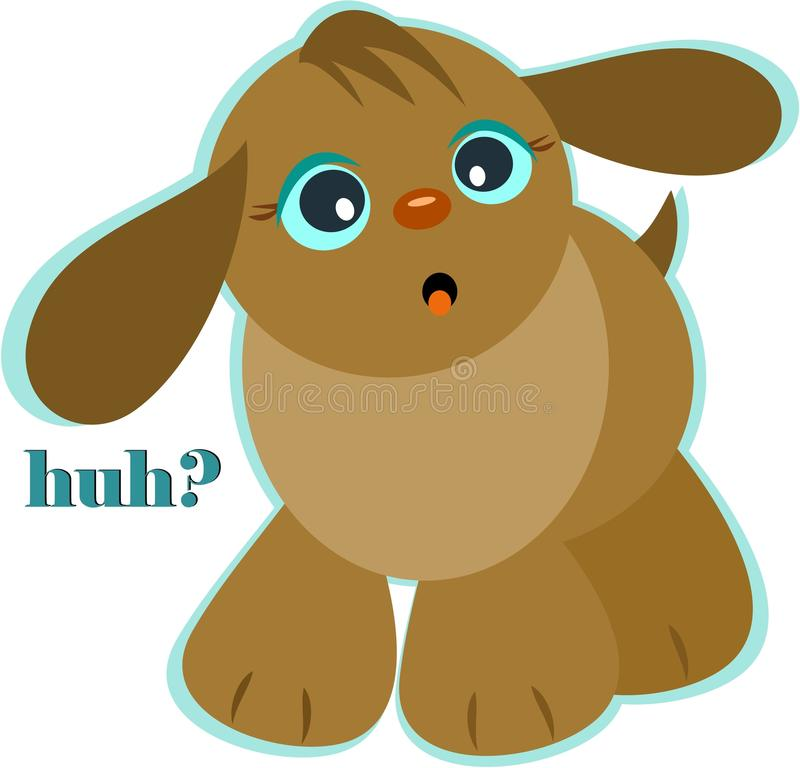 hund huh stock illustrationer