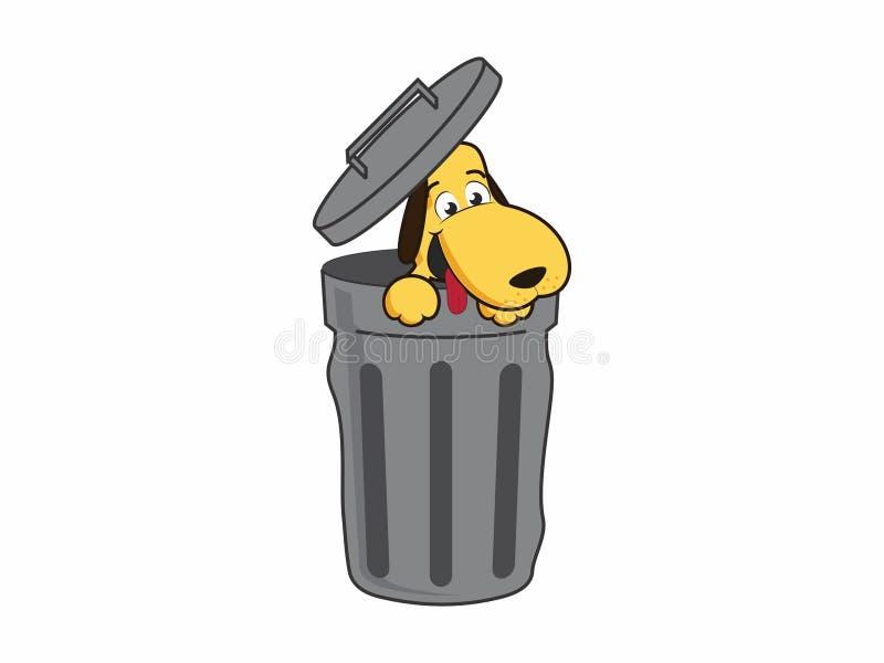 Hund im Abfall lizenzfreie stockbilder