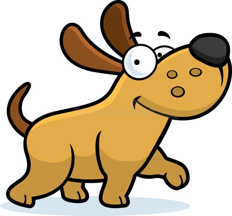 hund little som går stock illustrationer