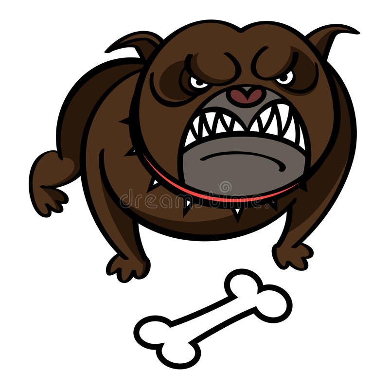 Hund med benet stock illustrationer