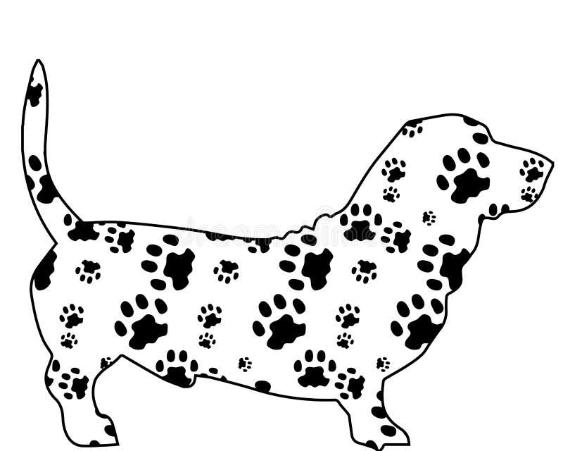 Hund med textur från block stock illustrationer
