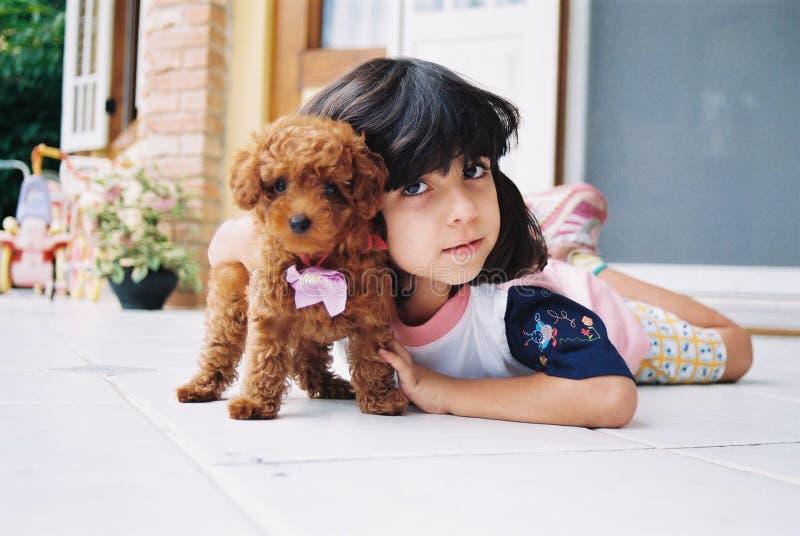 hund mig little min förälskelse arkivbilder