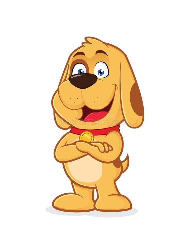 Hund mit den gefalteten Händen lizenzfreie abbildung