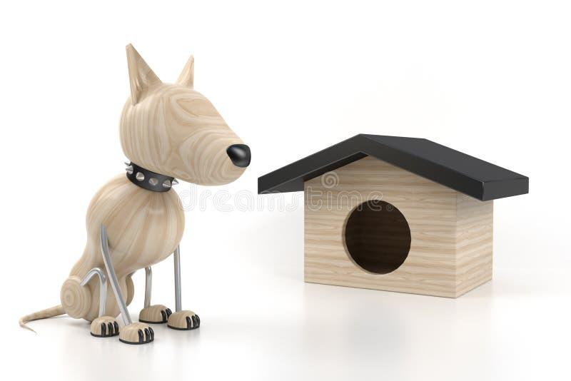 Hund sitzen stock abbildung
