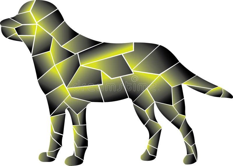 Hund stor kombination av två färger stock illustrationer